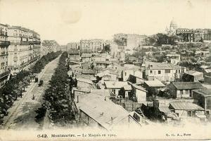 Der Maquis/die Rue Caulaincourt, Paris im Jahr 1904.